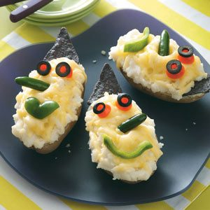 Wicked Witch Stuffed Potatoes Recipe