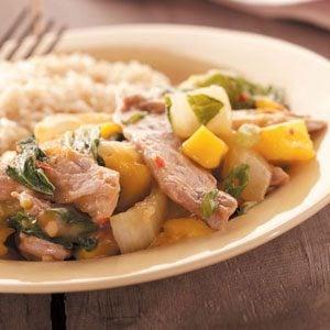 Mango Pork Stir-Fry Recipe