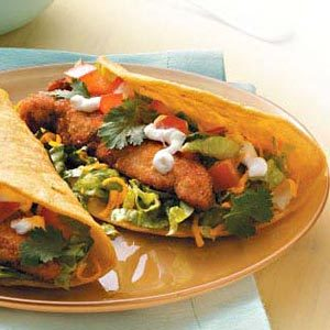 Chicken Finger Tacos for Two Recipe
