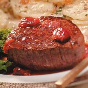 Tenderloin for Two with Cherry-Brandy Sauce Recipe