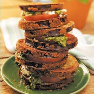 Pesto Veggie Stacks Recipe