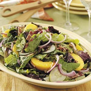 Tossed Salad with Peaches Recipe