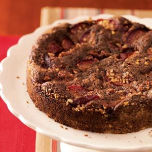 Plum-Topped Chocolate Kuchen Recipe