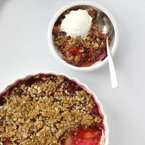 Plum Crisp with Crunchy Oat Topping Recipe