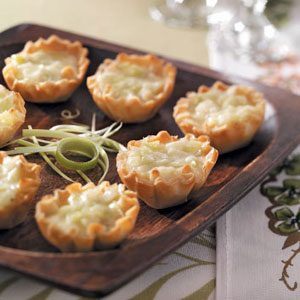 Brie-Leek Tartlets Recipe