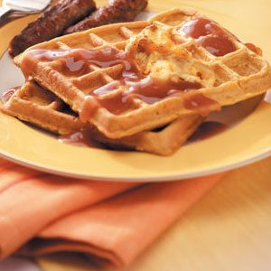 Pumpkin Waffles with Orange Walnut Butter Recipe