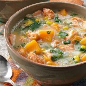 Veggie Salmon Chowder Recipe | Taste of Home