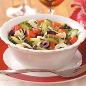 Tomato-Cucumber Mozzarella Salad Recipe