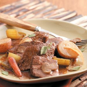 Pot Roast with Mushroom Gravy Recipe