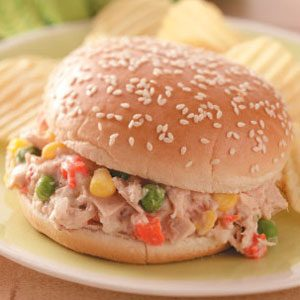 Mixed Veggie Tuna Salad Sandwich