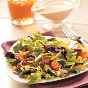 Black Bean Veggie Burger Salad