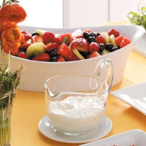 Mixed Fruit with Lemon-Basil Dressing Recipe