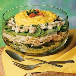 Fast Layered Chicken Salad Recipe