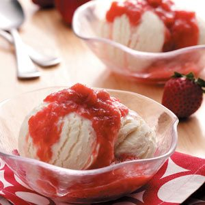 Slow Cooker Strawberry Rhubarb Sauce