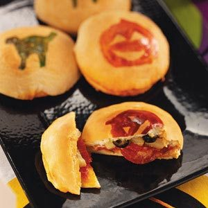 Trick-or-Treat Biscuit Pizzas