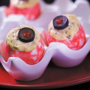 Halloween Eyeball Appetizer