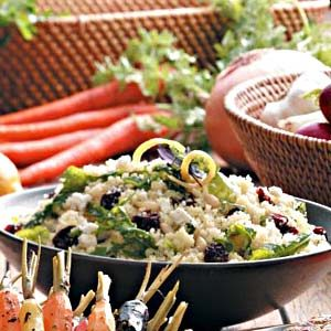 Couscous Salad with Lemon Vinaigrette Recipe