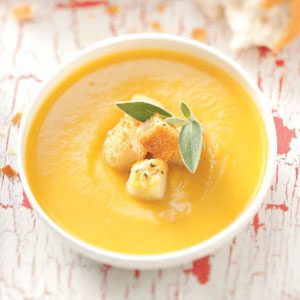 Butternut Soup with Parmesan Croutons