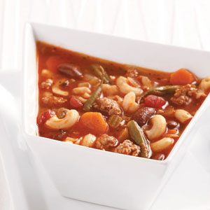 Lightened-Up Pasta Fagioli Soup Recipe