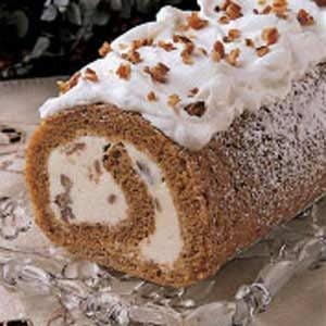 Pumpkin Ice Cream Roll Recipe