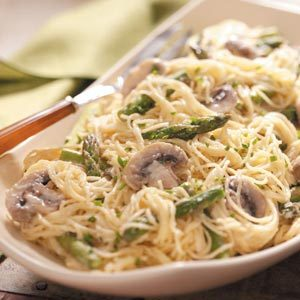 Swiss Angel Hair 'n' Asparagus Recipe