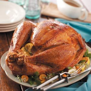 Lemon-Herb Roasted Turkey Recipe