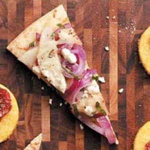 Goat Cheese, Pear & Onion Pizza Recipe