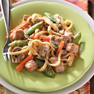 Pork and Fettuccine Alfredo Recipe
