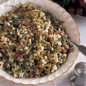 Overnight Vegetable Salad Recipe