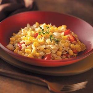 Corn & Pepper Orzo Recipe