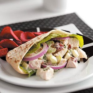 Fruited Turkey Salad Pitas Recipe