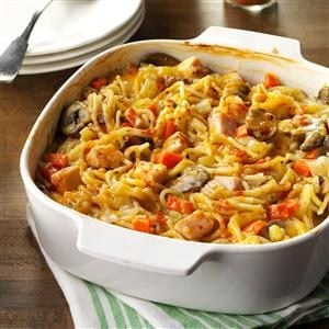 Turkey Spaghetti Casserole Recipe photo by Taste of Home