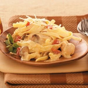 Makeover Chicken Fettuccine Alfredo Recipe