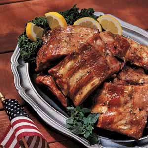 Honey Barbecued Spareribs