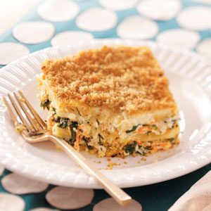 Meatless Spinach Lasagna Recipe