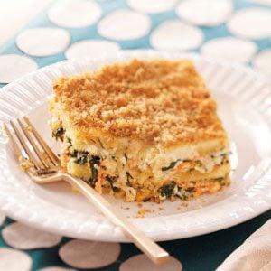 Meatless Spinach Lasagna Recipe