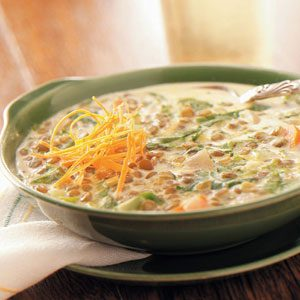 Cream of Lentil Soup Recipe