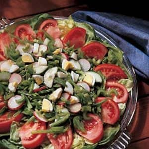 Summer Salad with Golden Dressing Recipe