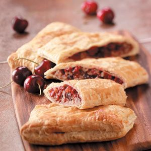 Easy Cherry Strudels Recipe