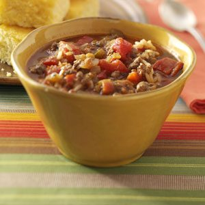 Zippy Spanish Rice Soup Recipe | Taste of Home