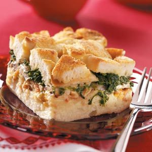 Bacon Spinach Strata Recipe
