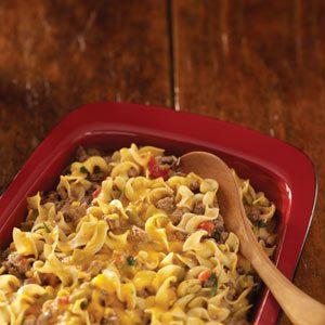 Meaty Noodle Casserole Recipe