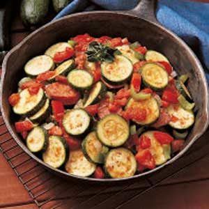 Skillet Zucchini and Sausage Recipe