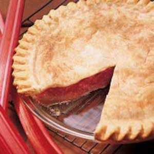 Rhubarb Custard Pie Recipe