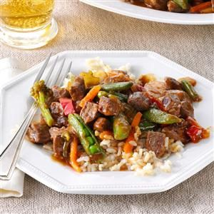 Stir-Fried Steak & Veggies Recipe