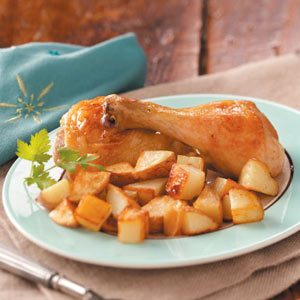 Garlic-Roasted Chicken and Potatoes Recipe