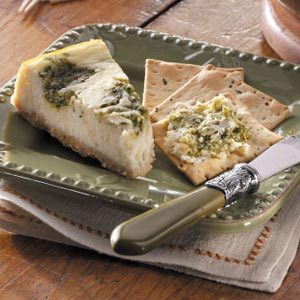 Pesto Swirled Cheesecake
