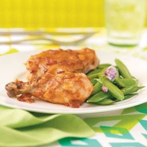 Curry-Glazed Golden Chicken Recipe