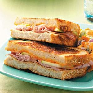 Ham & Apple Grilled Cheese Sandwiches Recipe