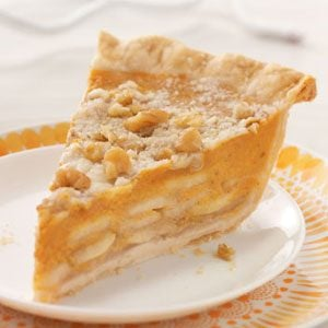 Crumb-Topped Apple & Pumpkin Pie Recipe